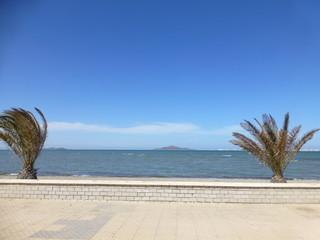 Playa de Islas Menores en La Manga del Mar Menor, Cartagena (Murcia,España)