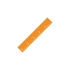 ruler colored icon. Element of school icon for mobile concept and web apps. Detailed ruler icon can be used for web and mobile. Simple icon