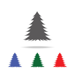 spruce tree icon. Elements of trees in multi colored icons. Premium quality graphic design icon. Simple icon for websites, web design, mobile app, info graphics