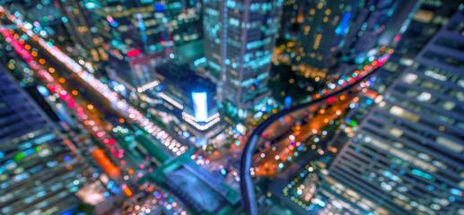 Abstarct background of city business skyline modern style.
