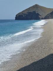 La playa de los Muertos, playa de la costa de Almería, situada en el municipio de Carboneras en Cabo de Gata, Almeria ( Andalucia, España)