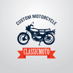 Custom Classic Motorcycle Badge Logo Designs Template