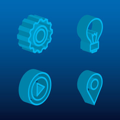 business concept isometric set icons vector illustration design