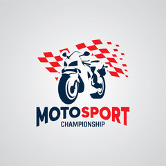 Sport Motorcycle Race Logo Design Template
