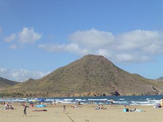 San Jose y playa de los genoveses en el Cabo de Gata, Almeria ( Andalucia, España)