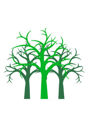 wald baum winter herbst äste kahl pflanze natur design cool clipart