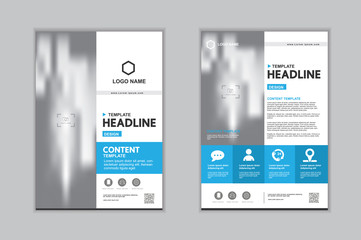 Templates presentation for annual report, flyer, leaflet, brochure, corporate report, advertising. vector design. no10