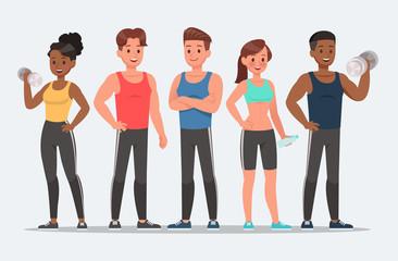 Fitness character set vector design