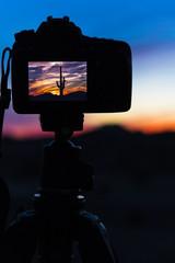 Desert Sunset In A Camera