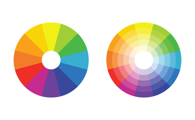 color wheel with 12 colors in gradiation Fototapete