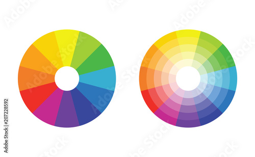 Color Wheel With 12 Colors In Gradiation Stock Image And Royalty