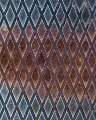Metallmuster mit Rostspuren