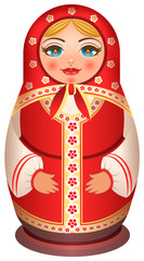 Traditional national painted wooden of Russian doll