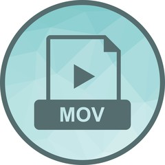 MOV, play, symbol