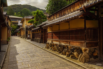 Wooden houses at ancient town