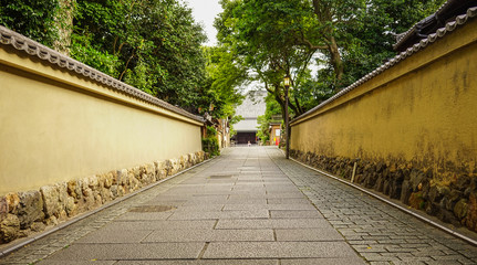 Stone path of ancient garden