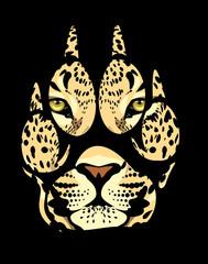 muzzle of a leopard in a fingerprint