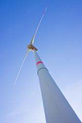 Wind Turbine in a blue sky
