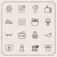 Modern, simple vector icon set with man, property, cycle, extreme, tv, finance, decoration, center, bank, contract, chessboard, business, tshirt, television, culture, strategy, point, white, jug icons