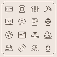 Modern, simple vector icon set with domino, tap, construction, forest, game, lock, phone, seafood, call, sand, security, sew, nature, wallet, hour, machine, shovel, dollar, fish, white, food icons