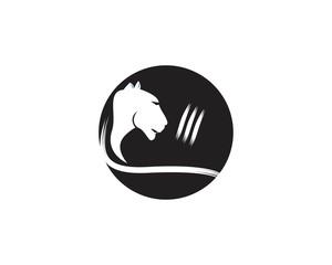 Puma head logo vector template