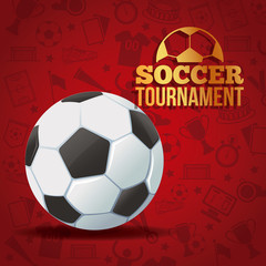 Soccer game tournament colorful banner vector illustration graphic design