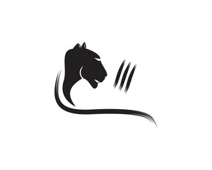 Puma head logo vector template