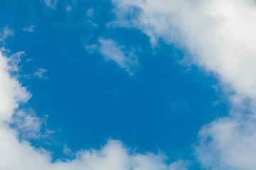 Clouds frame in sky