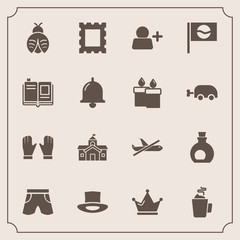 Modern, simple vector icon set with plane, king, city, picture, japan, white, house, crown, bug, flight, border, cup, airplane, government, fashion, food, travel, sign, hot, add, lady, education icons
