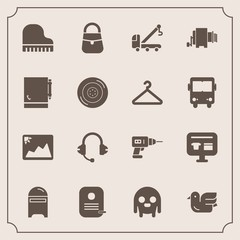 Modern, simple vector icon set with bird, frame, picture, microphone, bag, letter, ufo, space, musical, music, truck, machine, car, accident, hand, image, cart, piano, pasta, post, fashion, sale icons