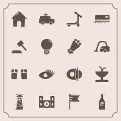 Modern, simple vector icon set with drink, house, fashion, technology, play, footwear, child, business, beautiful, beverage, sea, summer, girl, flip, car, flag, estate, toy, cooking, beauty, art icons