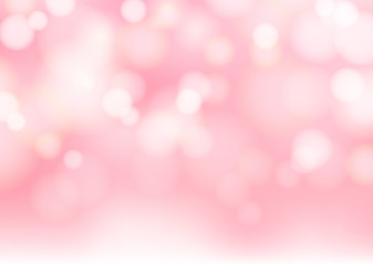 Abstract blurred soft focus bokeh of bright pink color background.