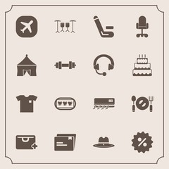 Modern, simple vector icon set with drum, office, texas, air, airplane, healthy, chair, shirt, competition, conditioner, business, competitive, sign, fork, fashion, document, match, sheriff, new icons