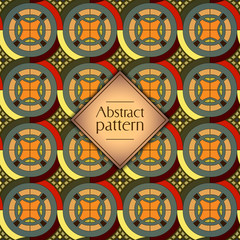 Abstract geometric retro seamless pattern. Vector background.