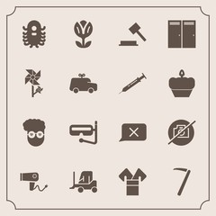 Modern, simple vector icon set with closed, camera, mask, blow, picture, cargo, law, snorkel, fiction, chat, no, care, monster, tool, costume, photo, summer, sea, water, transport, alien, style icons