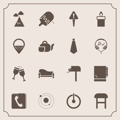 Modern, simple vector icon set with notepad, landscape, internet, home, sky, system, post, red, armchair, sign, mountain, blue, ice, switch, mailbox, message, sofa, exclamation, button, galaxy icons