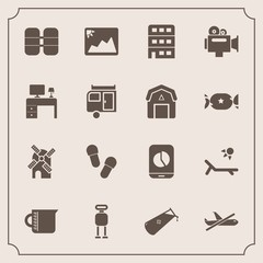 Modern, simple vector icon set with technology, slipper, handle, mobile, business, oxygen, city, mill, futuristic, sunny, energy, chemical, chart, robot, flight, cyborg, tank, travel, footwear icons