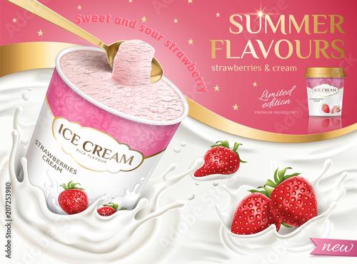 Strawberry Ice Cream Cup