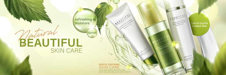 Natural skin care products ad