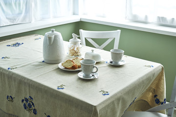 Breakfast table summer tablecloth