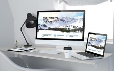 Wall Mural - workroom cool responsive web design
