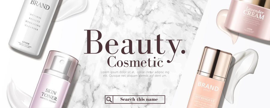 Cosmetic product banner ad