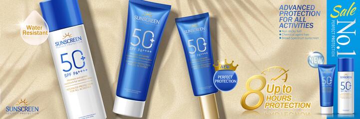 sunscreen set advertising