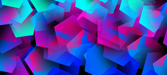 Fotomurales - Abstract background, dark, bright elements, neon