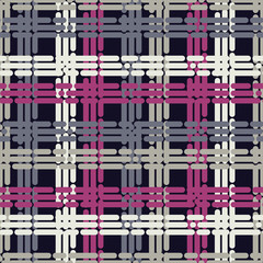 Seamless abstract geometric pattern. The texture of the strips and dots. Textile rapport.
