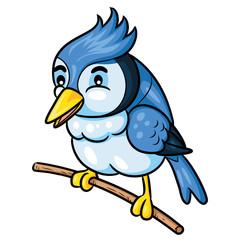 Bird Cute Cartoon Illustration of cute cartoon bird.