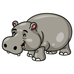 Hippo Cartoon Cute