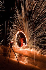 Fire show at the beach