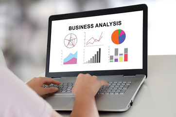 Business analysis concept on a laptop