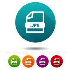 Image file icon. Download JPG symbol sign. Web Button.